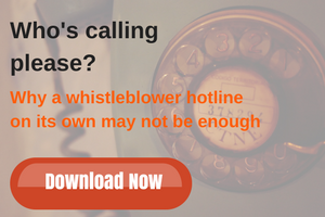 why a whistleblower hotline on its own may not be enough
