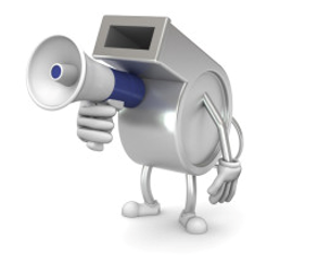 stock graphic whistle with megaphone
